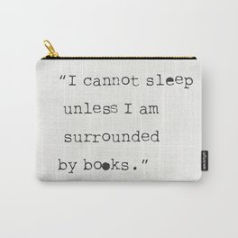 Jorge Luis Borges quote Carry-All Pouch