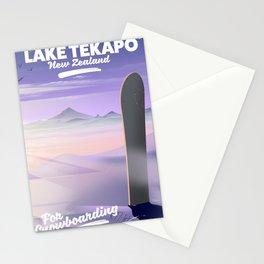 Snowboard Lake Tekapo New Zealand Stationery Cards