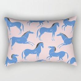 ancient greek pottery horses pattern Rectangular Pillow