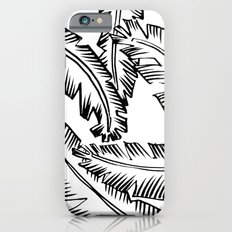 Modern Palm Leaves - black and white iPhone 6 Slim Case