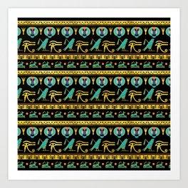 Egyptian  Ornament Symbols Pattern Art Print