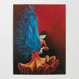 Spanish Flamenco Dancer Poster