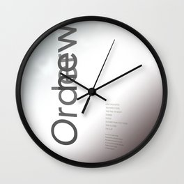 Low Life Inspired Wall Clock