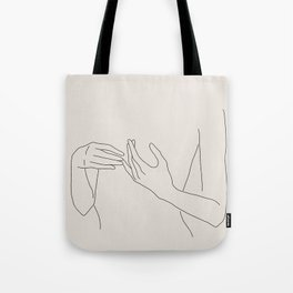 Abstract Line Art Tote Bag