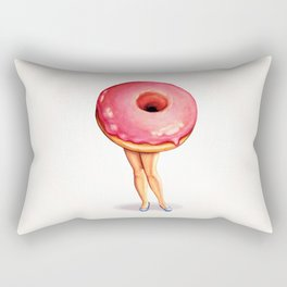 Donut Girl Rectangular Pillow
