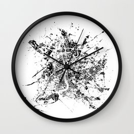 Rome map Wall Clock