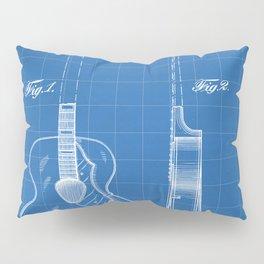 Accoustic Guitar Patent - Classical Guitar Art - Blueprint Pillow Sham