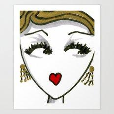 Art Deco Face No. 1 Art Print