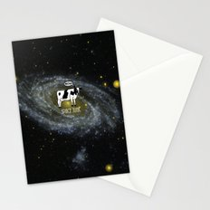 A cow become Space Junk at the Universe Stationery Cards