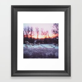Snowy Sunset Framed Art Print