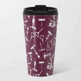 Antique Wine Corkscrews on Cabernet Travel Mug