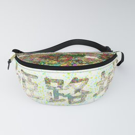 Himeji Castle Colorful Painting Fanny Pack