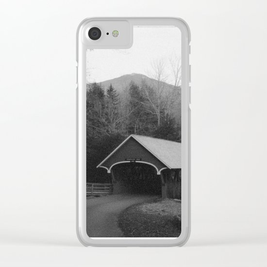 New England Classic Covered Bridge Clear iPhone Case