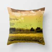 wildlife Throw Pillows featuring Wildlife by Sergio Silva Santos