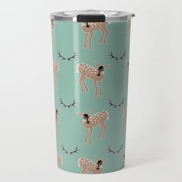 Deer Pattern Travel Mug