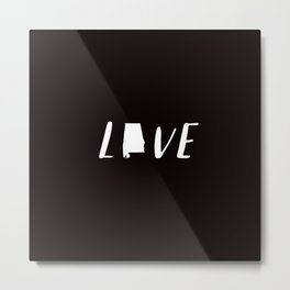 Alabama Love - Black and White Metal Print