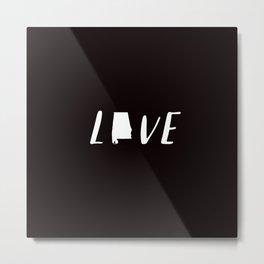 Alabama Love - Black and White Metal Print