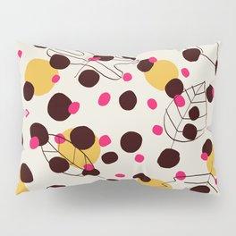 Dots + leaves Pillow Sham