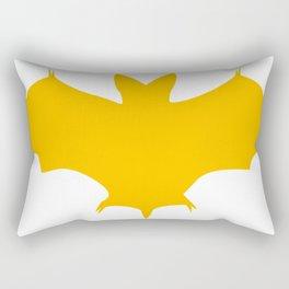 Orange-Yellow Silhouette Of a Bat  Rectangular Pillow