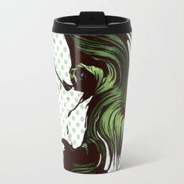 Green Brush Paint Travel Mug