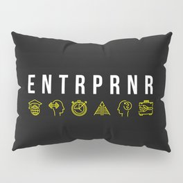 ENTRPRNR - Entrepreneur with Icons Pillow Sham