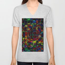 Urban Psychedelic Abstract Unisex V-Neck