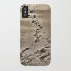 Footprints in the Sand Slim Case iPhone X
