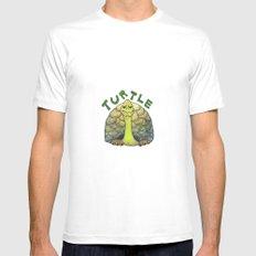 Turtle MEDIUM White Mens Fitted Tee