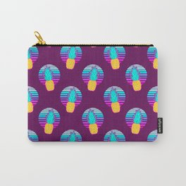Vaporwave pineapples. Maroon background. Carry-All Pouch