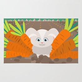 Bunny and carrots Rug