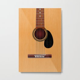 Acoustic Guitar Metal Print