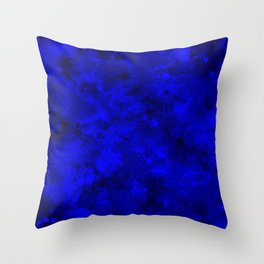 Blue Spatter Camouflage Throw Pillow
