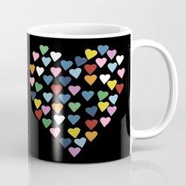 Hearts Heart Black Coffee Mug