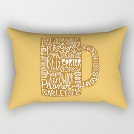 Beer Mug Types Rectangular Pillow
