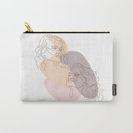 Minimal Line Art Summer Woman Carry-All Pouch