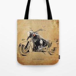 227 - 2012 INDIAN CHIEF DARK HORSE original portrait Tote Bag