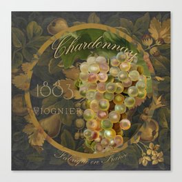 Wines of France Chardonnay Canvas Print
