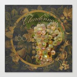 Wines of France Chardonnay Canvas Print