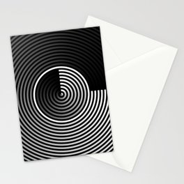 GRADIENT CONCENTRIC CIRCLES Stationery Cards