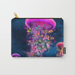 Floating Electric Jellyfish Worlds Carry-All Pouch