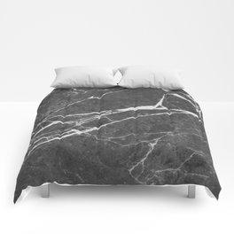 Matte Black Marble Comforters