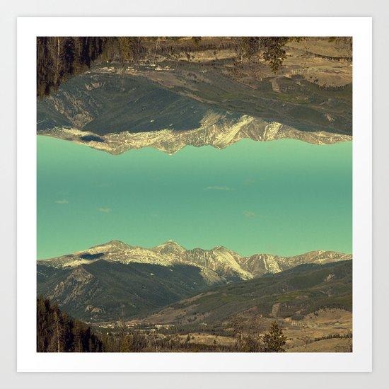 good afternoon mountains Art Print