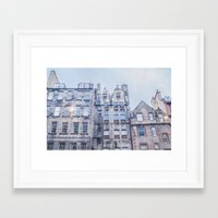 edinburgh Framed Art Prints featuring EDINBURGH by Marte Stromme