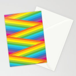 Rainbow Stripes Stationery Cards