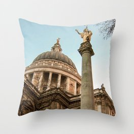 St. Paul's Cathedral in London Photo by Larry Simpson Throw Pillow