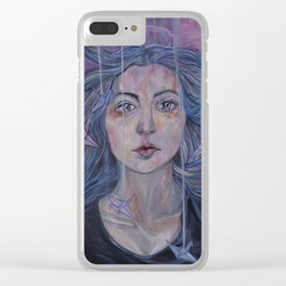 Folding Hope Clear iPhone Case