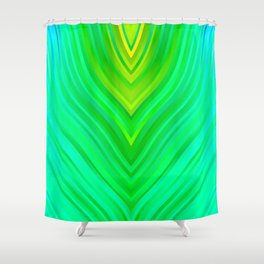stripes wave pattern 3 sm60 Shower Curtain