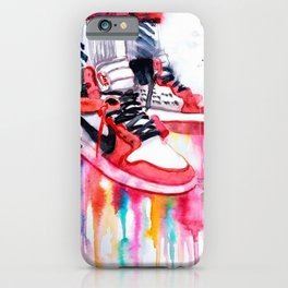 Jordan Sneakers poster iPhone Case