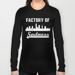 Cleveland Factory of Sadness City Skyline Graphic Long Sleeve T-shirt