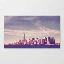 New York City Skyline Waterfront Canvas Print